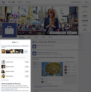 facebook page - about