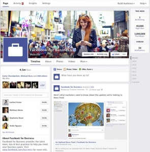 facebook page - new design